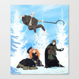 Snow fun Canvas Print