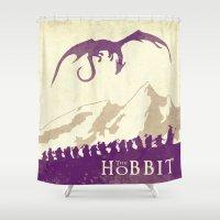 hobbit Shower Curtains featuring The Hobbit by WatercolorGirlArt