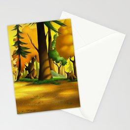 Cartoony Digital Forest Stationery Cards