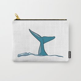 Whale fish fin Carry-All Pouch