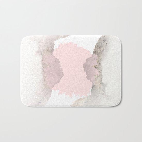 Pale Pink on Mountains Bath Mat