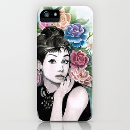 Audrey Hepburn as Holly Golightly iPhone Case