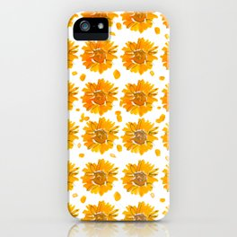 Fall Sunflowers iPhone Case