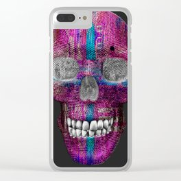 Pink Love Skelly Clear iPhone Case