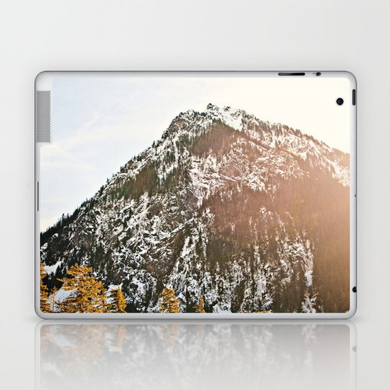 Snowy Mountain Peak in the Sun Laptop & iPad Skin