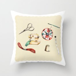 Sew & Sew  Throw Pillow