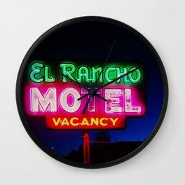El Rancho Motel ... Wall Clock