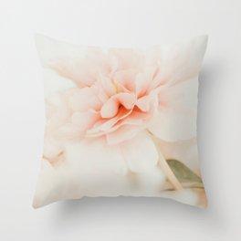 Burnt Orange Peony Throw Pillow