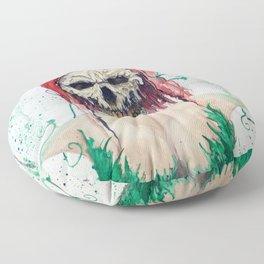 Poison Ivy Skull Floor Pillow