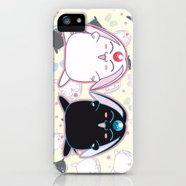 Black & White Mokona iPhone Case