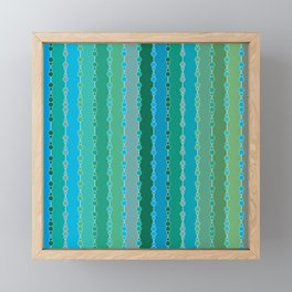 Multi-faceted decorative lines 5 Framed Mini Art Print