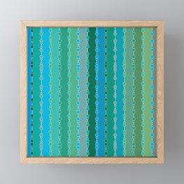 Multi-faceted decorative lines 5 Framed Mini Art Print