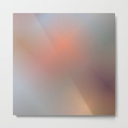 Abstract gradient art geometric background with soft color tone, cell grid. Metal Print