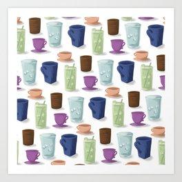 Drinks in Cups Art Print