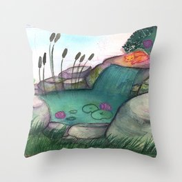 Solar (piece of peace) Throw Pillow