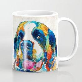 Colorful Saint Bernard Dog by Sharon Cummings Coffee Mug