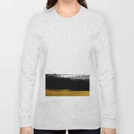 Black and Gold grunge stripes on clear white background - Stripe - Striped Long Sleeve T-shirt