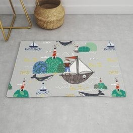 Pirates Ahoy Grey Rug