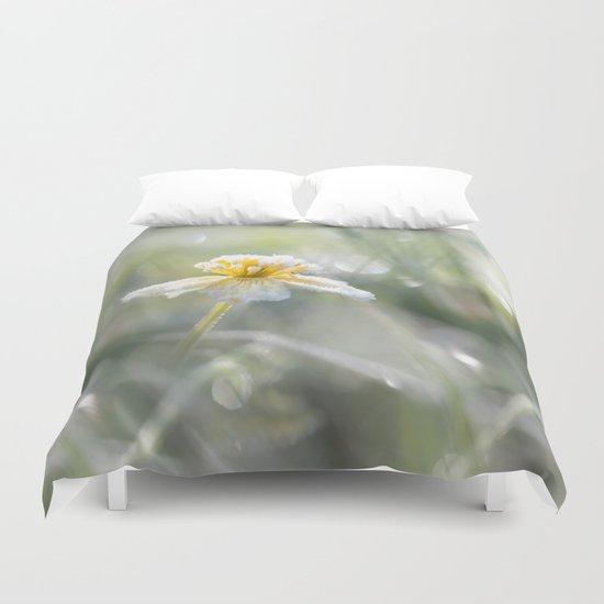 The last frost- Frozen buttercup Duvet Cover