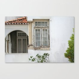 House with Closed Windows Canvas Print