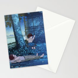 Grave of the Fireflies - japanese mashup Stationery Cards