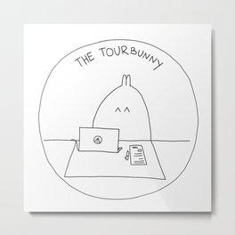The TourBunny Circle Metal Print