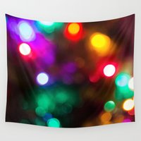 lights Wall Tapestries featuring Lights by Michelle McConnell