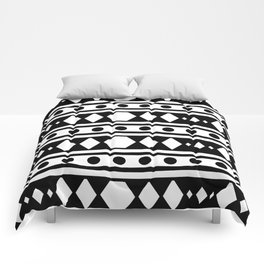 White tribal pattern Comforters