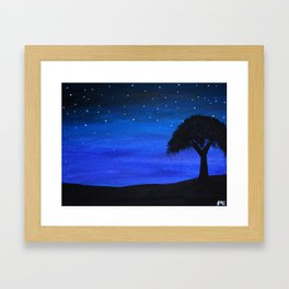 Starry Night Sky Framed Art Print