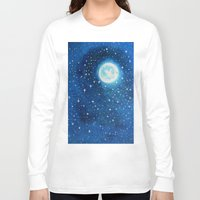 starry night Long Sleeve T-shirts featuring Starry Night by maggs326