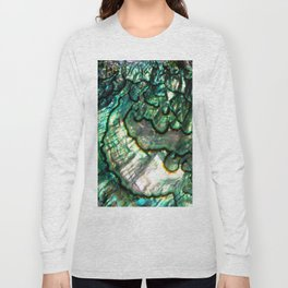 Shimmering Green Abalone Mother of Pearl Long Sleeve T-shirt