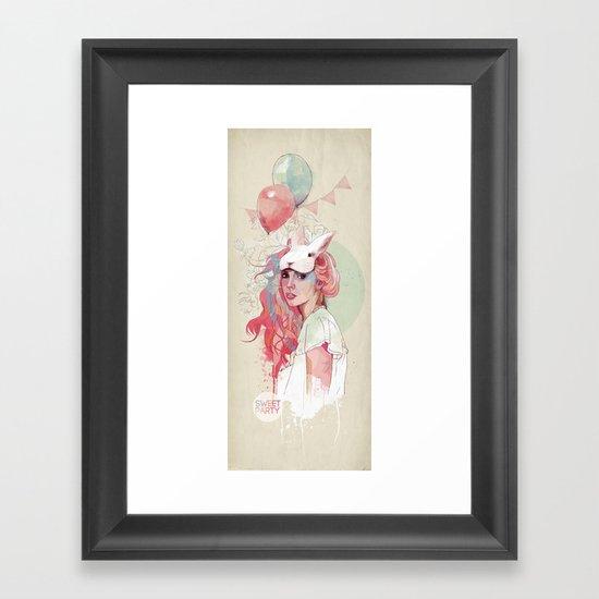 Sweet Party Framed Art Print