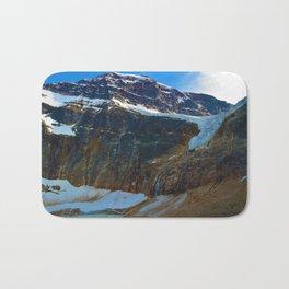 Mt. Edith Cavell & Angel Glacier in Jasper National Park, Canada Bath Mat