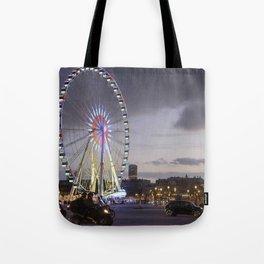 Wheel Concorde Paris Tote Bag