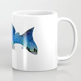 STARRY NIGHT GALAXY PLECO SUCKER FISH ARTWORK PAINTING Coffee Mug