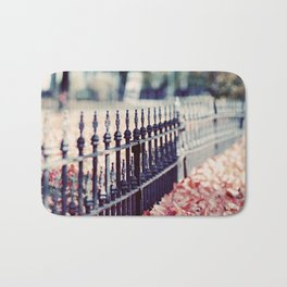 Autumn Fence Bath Mat