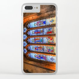 Bath Abbey Stained Glass Window Clear iPhone Case