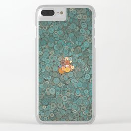 buttons fantasy blue lake Clear iPhone Case