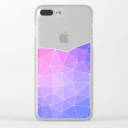 Abstract Colorful Flashy Geometric Triangulate Design Clear iPhone Case