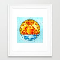 cancer Framed Art Prints featuring Cancer by Sandra Nascimento