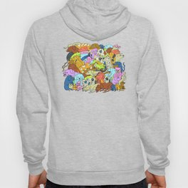 Dog Almighty! Dalmatians Retrievers Poodles Collage Hoody