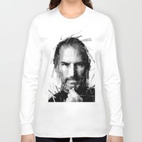 steve jobs Long Sleeve T-shirts featuring STEVE JOBS by Raditya Giga