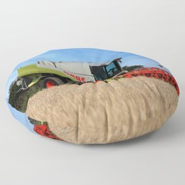 A Touch Of Claas 'Claas Lexion 470' Combine Harvester Floor Pillow