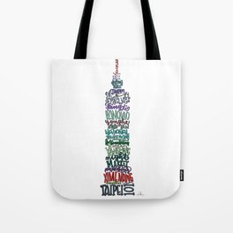 Hand Lettered Taipei 101 - Color Tote Bag