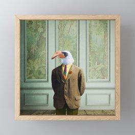 Harvey Hornbill in the Parlor Framed Mini Art Print