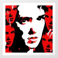 heathers Art Prints featuring Veronica Sawyer Interrupted by Terrestre