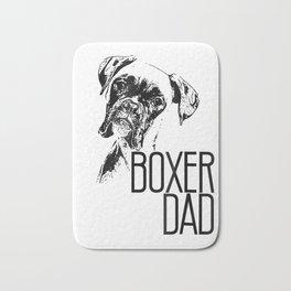 Mens BOXER DAD DOG FACE T-SHIRT - DOG LOVERS BOXER DAD GIFT SHIRT Bath Mat