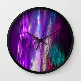 Abstract Electro Three Wall Clock