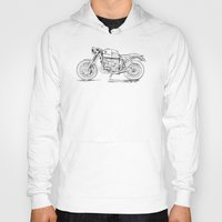 cafe racer Hoodies featuring BMW R56 Cafe Racer!! by TCORNELIUS