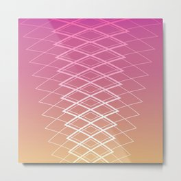 Grid on Sunset Metal Print